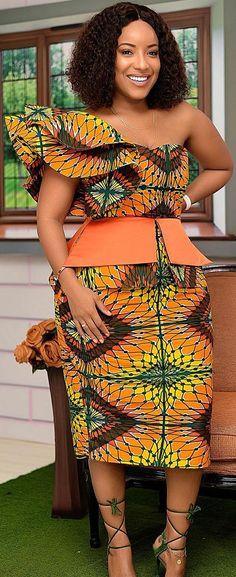 Trendy Ankara Styles Hottest Designs on the go!Latest Ankara Styles and Aso Ebi Styles 2020 Best African Dresses, African Print Dresses, African Print Fashion, African Attire, African Wear, African Fashion Dresses, Fashion Outfits, Ankara Fashion, African Prints