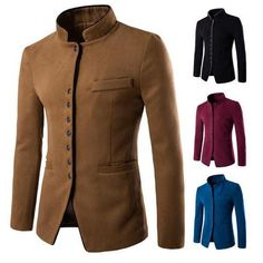 Tunic Wool Blazer Jacket
