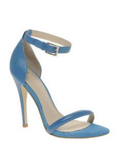 Something Blue  ASOS Harlot Stiletto Leather Sandals, $76.64