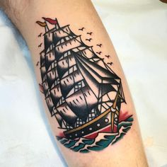 ~ Old School tattoo ~ ship by Giuseppe Morello Repin & Like plz. Thanks . Also listen to Noel's songs. Noelito Flow.