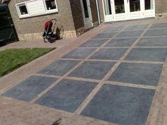 Belægning, belægningstegl, tegl, kliker, terrasse, Ziegel, bricks.    Mix af belægning