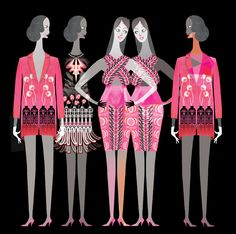 Think Pink! Holly Fulton LFW AW2012