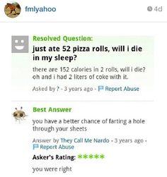 Funny Yahoo Answers
