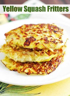 easy summer recipes with yellow sqash fritters #summerrecipes #summergrilling #easydinner