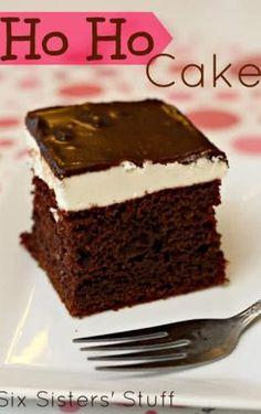 Layered Chocolate Pudding Cake | Six Sisters' Stuff