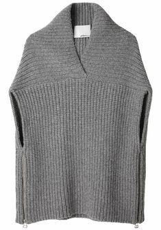 phillip lim boxy shawl sweater vest by tracy.healy.7