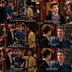 Look at farkle's sagging shoulders in head after Lucas answers the first question with Riley