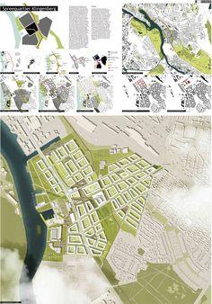Blockrand / Stadt am Wasser, Übersicht, Freiraumkonzept