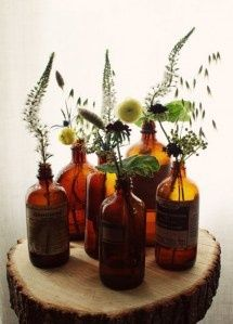 Brown apothecary jar