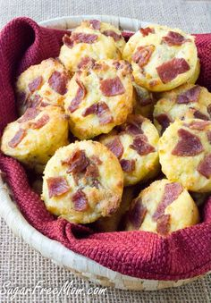 Cheesy Bacon Fat Head Biscuits (Low Carb and Gluten Free)