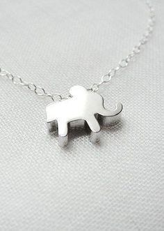 Sale Silver Elephant Necklace
