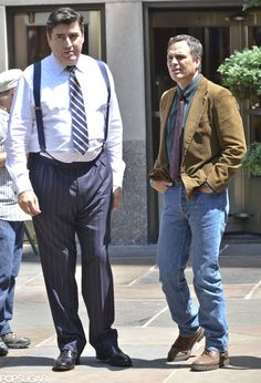 "Mark Ruffalo e Alfred Molina no set de ""The Normal Heart"""
