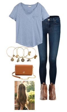 a good laugh and a long sleep are the two best cures for everything by gabbbsss on Polyvore featuring H&M, J Brand, Hoss Intropia, Tory Burch and Alex and Ani