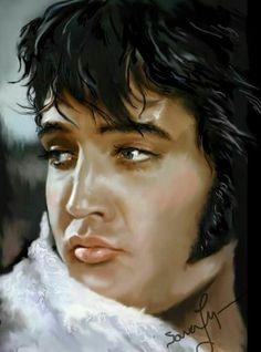 "( ☞ 2017 IN MEMORY OF ★ † ELVIS PRESLEY ★ 40 YEARS AGO (1977 - 2017) ★ Sara Lynn Sanders. "" Rock & roll ♫ pop ♫ rockabilly ♫ country ♫ blues ♫ gospel ♫ rhythm & blues ♫ "" ) ★ † ♪♫♪♪ Elvis Aaron Presley - Tuesday, January 08, 1935 - 5' 11¾"" - Tupelo, Mississippi, USA. † Died; Tuesday, August 16, 1977 (aged of 42) Resting place Graceland, Memphis, Tennessee, USA. Cause of death: (cardiac arrhythmia)."