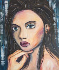 """Schilderij """"Woman from Israël"""""""