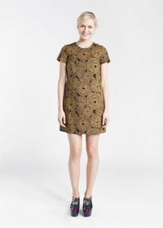 2014 Autumn WOMEN Dresses and Skirts  Marimekko…Awesome color combo, from what I can see, it really sets off the print. Throw on some gold sandals and go, baby!