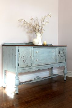 Distressed Vintage Sideboard/Buffet by DaringlyVintage on Etsy