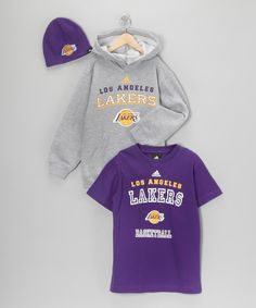 Los Angeles Lakers Hoodie Set - Boys   #zulily    #fall