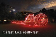 4G ads - Google 搜索 Lightning, Neon Signs, Ads, Google, Lightning Storms, Lighting