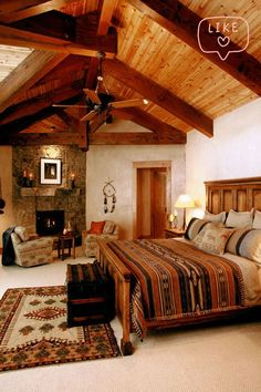 55 Warm and Cozy Rustic Bedroom Decorating Ideas