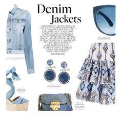 """Wardrobe staples: Denim Jackets"" by chalsouv ❤ liked on Polyvore featuring Whiteley, 3x1, Caroline Constas, Ralph Lauren, Prada, H&M, Napier, denimjackets and WardrobeStaples"