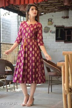 Kurtis & Kurtas Women's Printed Rayon Kurti Fabric: Rayon  Sleeves: Sleeves Are Included Size: M- 38 in L- 40 in XL- 42 in XXL - 44 in Length: Up To 46 in Type: Stitched Description: It Has 1 Piece Of Women's Kurti Work: Printed Country of Origin: India Sizes Available: M, L, XL, XXL, XXXL   Catalog Rating: ★4.2 (443)  Catalog Name: Women'S Printed Rayon Kurtis CatalogID_439161 C74-SC1001 Code: 274-3192629-5121