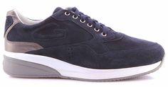 Herren Schuhe Sneaker ALBERTO GUARDIANI Sport Man Shoes Grove Blau Made In Italy