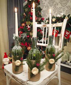 Подсвечники Свечи Свет Новогодний венок Новый год Рождество Ручная работа Новогодний декор New year Christmas Christmas decoration Handmade  Candles  Light Candlestick