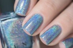 Skyscraper - Light Periwinkle Ultra Holographic Nail Polish by ILNP Painted Toe Nails, Glittery Nails, Holographic Nail Polish, Nail Polish Collection, Periwinkle, Indie Brands, Nail Ideas, My Nails, Swatch