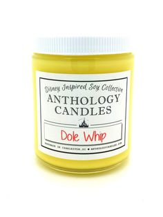 Dole Whip Candle  Disney Candle Pineapple Dole by AnthologyCandles