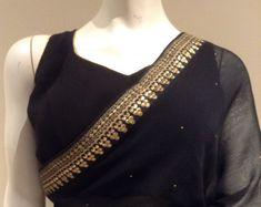Elegant black saree