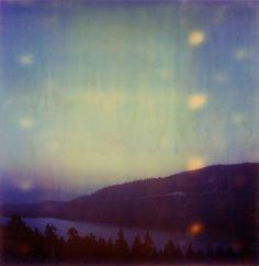dreamy holga mountains and lake
