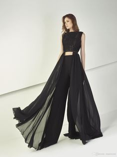 Tony Ward 2018 Black Jumpsuits Prom Dresses Sexy Two Pieces Lace Appliqued Evening Gowns Cheap Formal Wear - Tony Ward 2018 Black Jumpsuits Prom Dresses Sexy Two Pieces Lace Appliqued Evening Gowns Cheap Formal Wear Source by veselasijalica - Stylish Dresses, Women's Fashion Dresses, Sexy Dresses, Prom Dresses, Formal Dresses, Graduation Dresses, Emo Fashion, Jumpsuit Prom Dress, Ny Dress