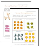 Preschool Worksheets for learning NUMBERS.  Traceables, counting, even color by numbers!  So many ways to have fun and learn numbers.  :-D