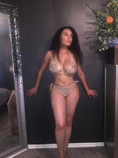 SKIN Crystal Bikini in French Vanilla | Etsy Sexy Bikini, Bikini Girls, Black Is Beautiful, Beautiful Women, Growing Facial Hair, Buxom Beauties, Black Magic Woman, Curvy Plus Size, Sexy Teens