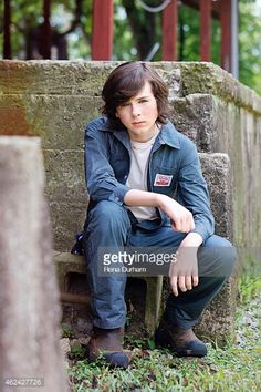 Actor Chandler Riggs is photographed for LVLten Magazine on June Chandler Riggs, Carl Grimes, The Walking Dead, Emma Stone Blonde, Funny Quotes, Funny Memes, Memes Humor, Friday Humor, Funny Friday