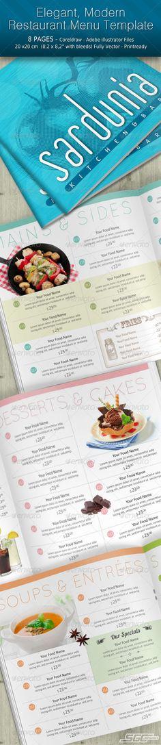 Modern Elegant Restaurant Menu - Food Menus Print Templates