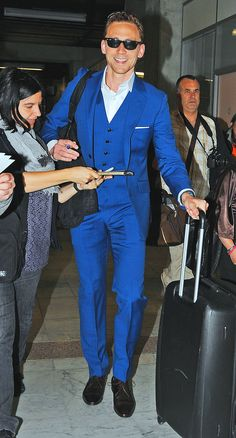 Tom arriving in Cannes...