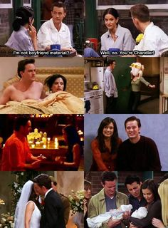 Monica & Chandler's road to love, marriage, and babies.