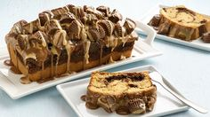 Peanut butter lovers will love these chocolate fudge-swirled loaf cakes loaded with their favorite chocolate and peanut butter combo.