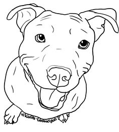 free sue coccia coloring pages - hundar pitbull coloring pages pinterest pitbull