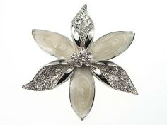 Elegant Crystal Rhinestone Enamel Painted Flower Petals Fashion Jewel Pin Brooch Alilang. $7.99