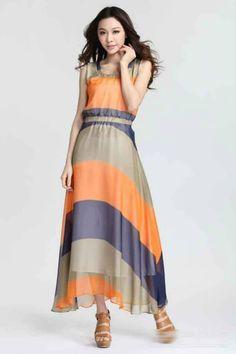 My stripe dress Long Summer Dresses, Striped Dress, Image, Closet, Fashion, Long Dresses, Moda, Striped Dress Outfit, Armoire