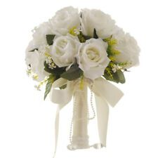 Cocosbride provides all kinds of wedding bouquets at affordable price, and you can find the pretty White Rose Artificial Wedding Bouquet with Handle for your biggest event of life here. bouquets ribbon New White Rose Artificial Wedding Bouquet with Handle Cheap Wedding Bouquets, Artificial Wedding Bouquets, Bride Bouquets, Wedding Bridesmaids, Artificial Flowers, Bridesmaid Dresses, Wedding Dresses, White Wedding Flowers, Flower Bouquet Wedding