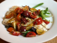 Dinner Tonight: Grilled Whitefish Salad with Tomatoes and Tarragon Vinaigrette Recipe Healthy Baking, Healthy Recipes, Healthy Food, Yummy Food, Baked Fish, Serious Eats, Fish And Seafood, Dinner Tonight, Stuffed Peppers
