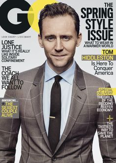 GQ: Tom Hiddleston on Taylor Swift, Heartbreak, and Great Bolognese. Link: http://www.gq.com/story/tom-hiddleston-cover-profile (Ful size image: https://i.imgbox.com/ynDmIQDm.jpg )