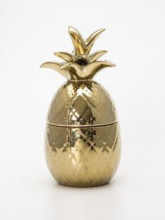 Pote de Ceramica Abacaxi Dourado | Collector55 - Loja de Decoração Online - Collector55 mobile