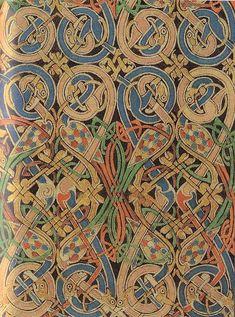 Lindisfarne Gospels-St Matthew carpet page detail via Flickr - Photo Sharing