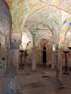 Aquileia - Friuli Venezia Giulia , Udine. Soffitto affrescato della basilica