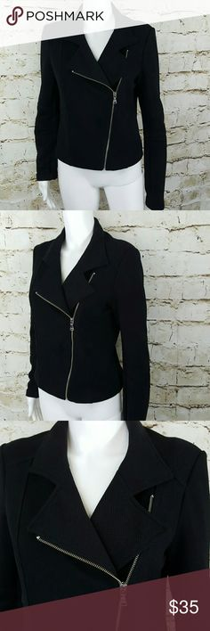 "Express jersey knit asymmetrical zip moto jacket Great fitting jacket!  Stylish Asymmetrical zippered moto jacket excellent condition no flaws bundle for 20% discount 18"" across from armpit to armpit and 21"" long from shoulder to hem Express Jackets & Coats"